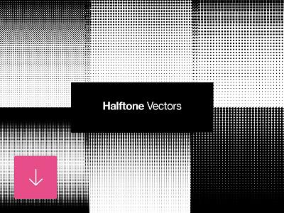Free Set of Halftone Vector Retro Patterns pattern halftone retro vector download freebie free