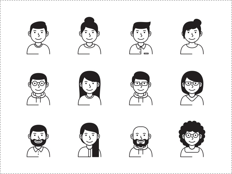 Avatar Vector Icons vector avatar icon freebie download free