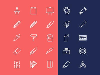 Free Art Tools Vector Icons tools artist art icon download freebie free