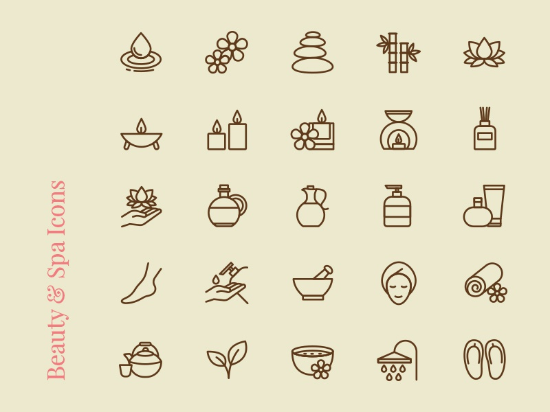 Free Icons : Beauty & Spa photoshop illustrator psd jpg svg vector icon freebies freebie free download