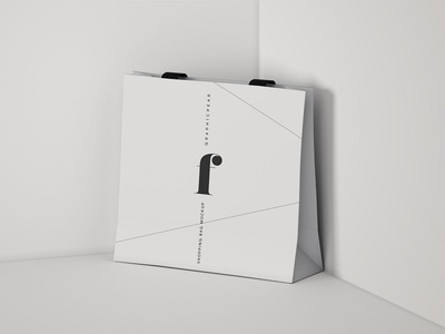 Square Shopping Bag Mockup - PSD
