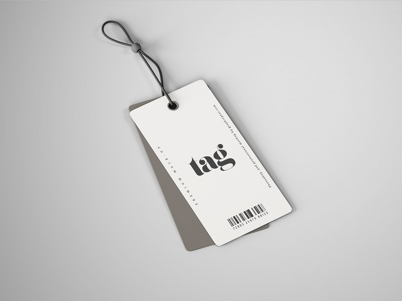 Tag Mockup: Double Clothes Tag Mockup By Graphic Pear