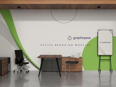 Office scene Branding Mockup
