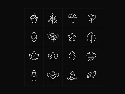 Autumn Icons Black illustrator template free template template vector free ai psd download free psd free download freebie free