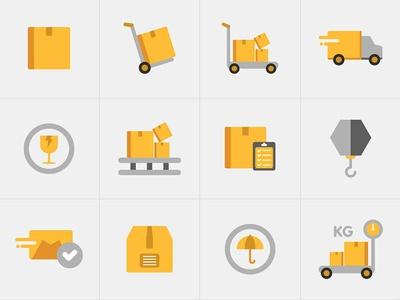 Free Delivery Icons illustrator template free template template vector free ai psd download free psd free download freebie free