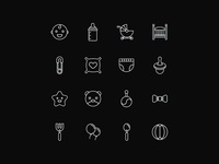 Vector Baby Icons