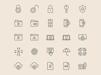 Security Icons illustrator template free template template vector free ai psd download free psd free download freebie free