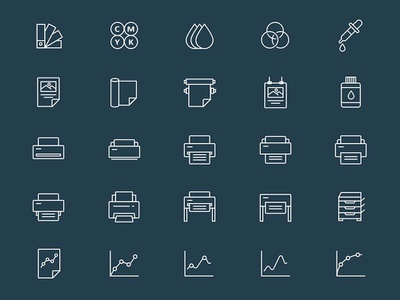 Printing Plotting Icons illustrator template free template template vector free ai psd download free psd free download freebie free