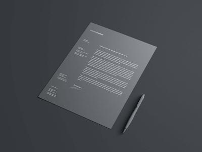 Simple Letterhead Mockup