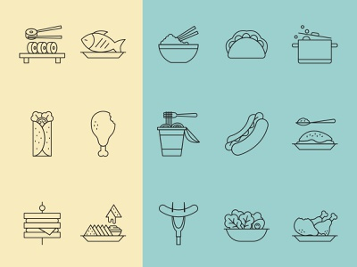 Restaurant Food Icons iconset icon design iconography icons design icons pack icons set icons free branding logo vector illustration design free download graphicpear freebie download