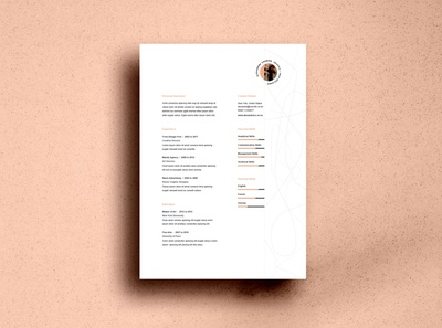 Flame Professional Resume Template