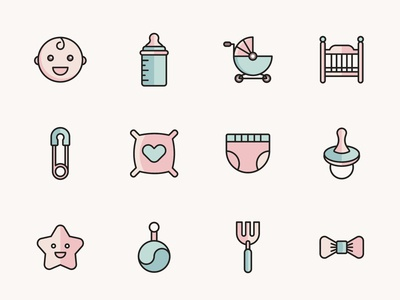 Baby Vector Icons – Part 02
