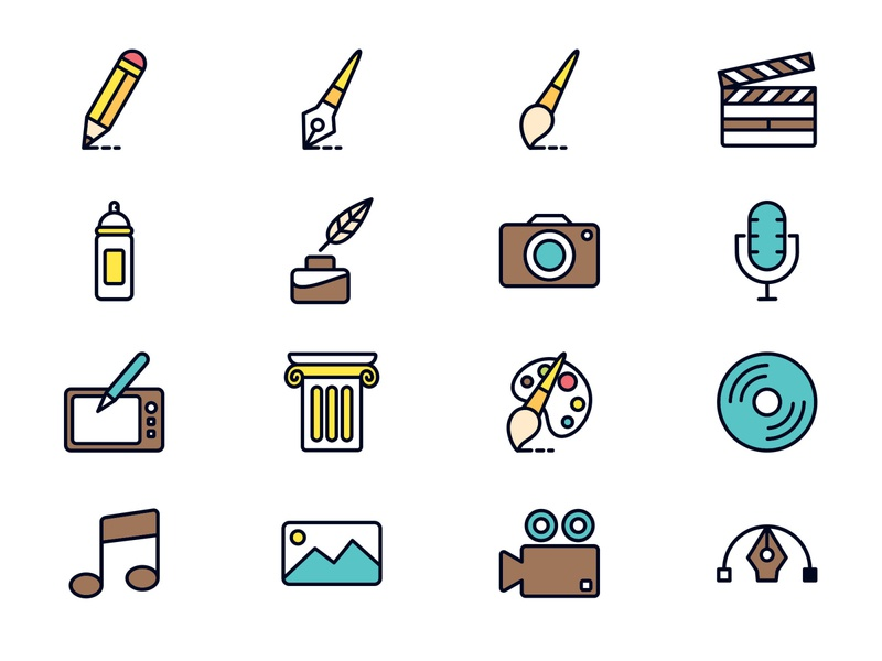 Art and Design Vector Icons