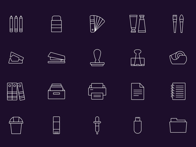 Stationery Vector Icons – Part 02