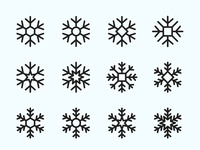 Snowflake Vector Icons – Part 01