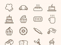 Cake and Bakery Icons 1536x1306