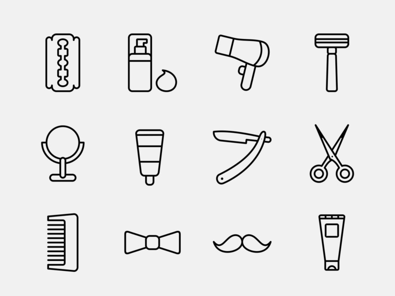 Barber Icons Part 01