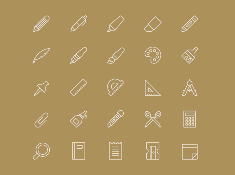 Stationery Vector Icons – Part 03