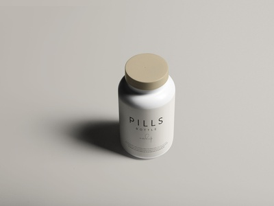 Pills Bottle Mockup photoshop branding psd download psd mockup psd package design packaging package mockup download mockup design mockup pills package bottle mockup pills mockup pills bottle free download freebie graphicpear download