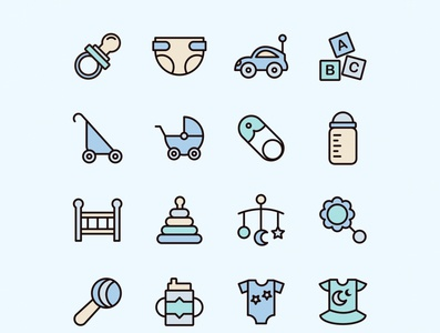 Baby Vector Icons Part 03