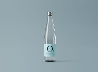 Minimal Glass Water Bottle Mockup
