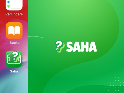 SAHA Branding green typography pattern vector illustration brand identity brand design brand logodesign logo