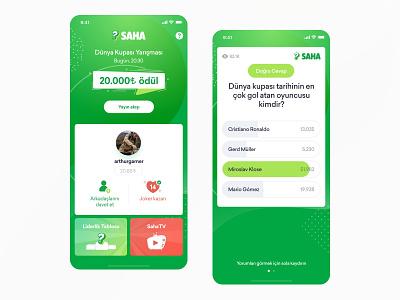 Saha - Live Quiz design android ios quiz mobile live illustration game fun app design app