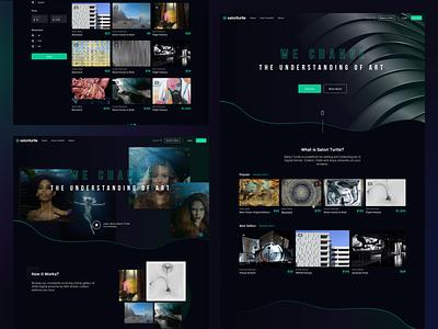 Collect Digital Art Web Design — SatoriTurtle trade platform collection art website app ux design ui landing