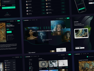 Product Design — SatoriTurtle responsive dark creative design ux ui app product website