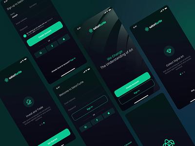 Onboarding Login Flow — Mobile App interface ux android ios register login onboarding screen splash icon app mobile