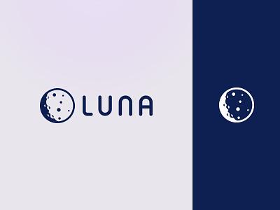 LunaDao Logo Design minimal dao moon design identity branding logo typography