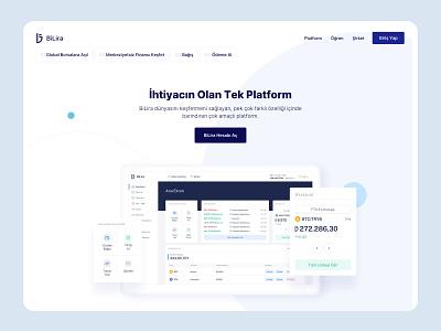 BiLira | Platform Page minimal landing page dashboard platform app website clean ux design ui