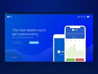 Coiny - Crypto Wallet Landing Page