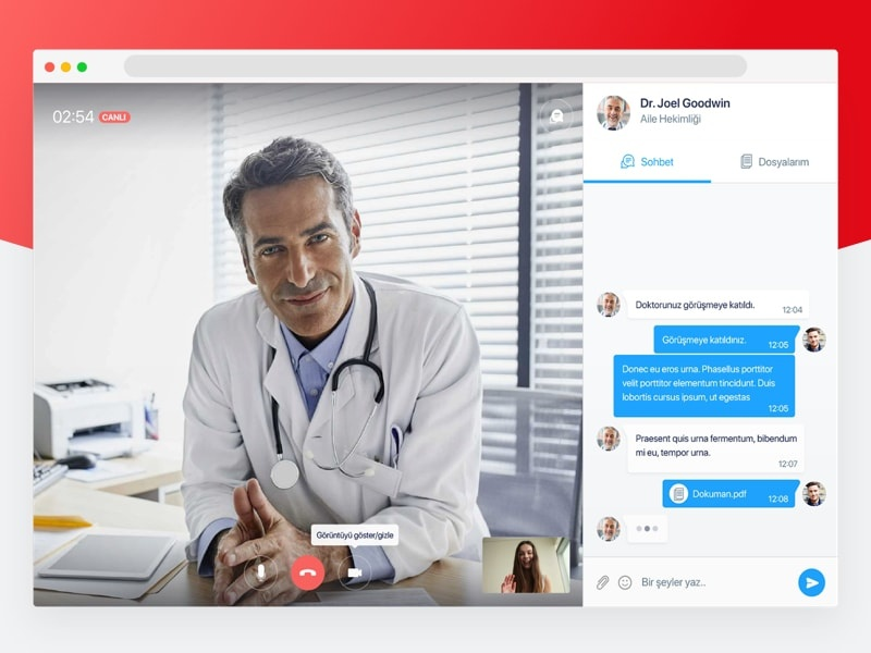 Online Video Call Concept by Oguz Dogan on Dribbble
