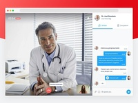 Online Video Call Concept