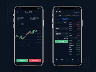 Cryptocurrency Exchange Mobile Platform design wallet mobile ios exchange cryptocurrency blockchain bitcoin app