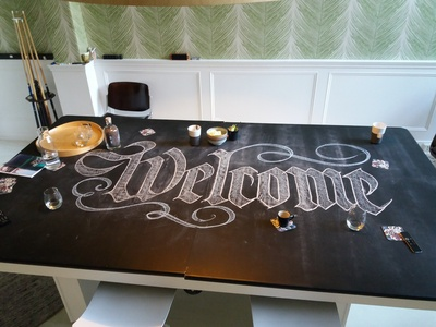 Chalky Welcome