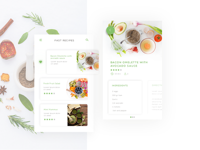 Daily Ui Challenge #040 - Recipe recipe web design interface ux ui challenge dailyui