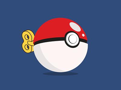 Poké Ball nintendo gotcha ball poke pokemon colors illustration vector icon design art