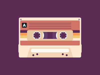 K7 music tape k7 design flat icon art vector drawings drawing draw illustration