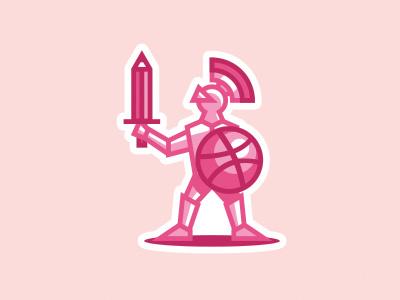 Knight shield armor sword pencil