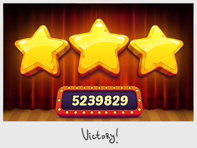 Victory stars victory stars game interface ui gui scores
