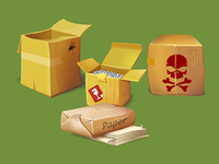 Boxes & paper - scetches
