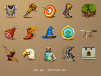 Icons for fantasy mobile RPG game