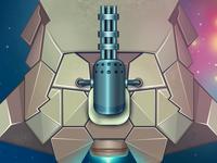 Spaceship hull with the gatling laser gun