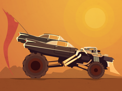 "Immortan Joe's car - ""Mad Max"" fanart"