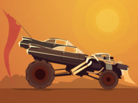 """Immortan Joe's car - """"Mad Max"""" fanart"""