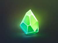 Green crystal icon