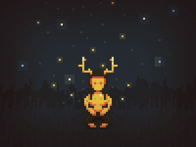 Cernunnos - pixel horned god