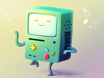 """Beemo - """"Adventure Time"""" fan art - with .psd-file beemo illustration console game adventure time character toy"""